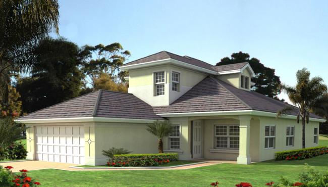 Florida-Style Home Floor Plan