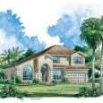 Beautiful Home Plan Rendering