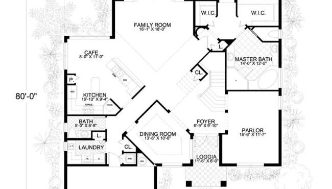 1st Floor Home Plan