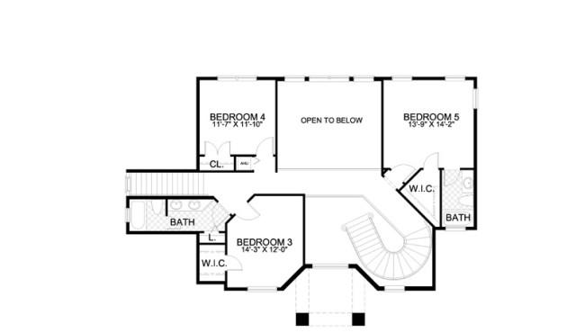 Second Floor House Plan