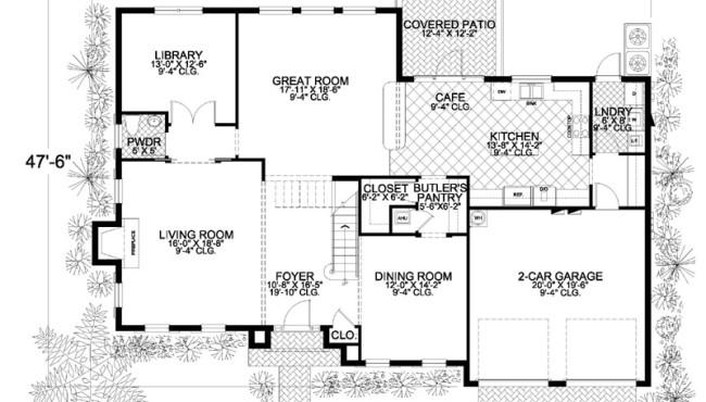First Floor Home Floor Plan