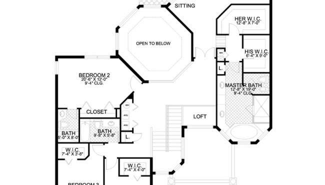 Second Floor Home Plan