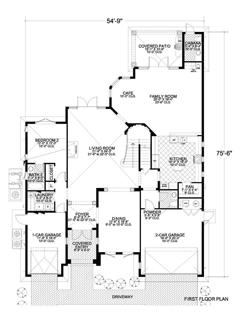 Elegant 2s Mediterranean Style Waterfront Home Plan 4200 0276
