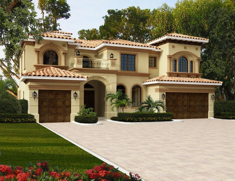 Elegant 2s mediterranean style waterfront home plan 4200 0276 for Elegant mediterranean homes