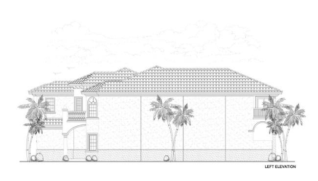 Left Elevation Home Plan