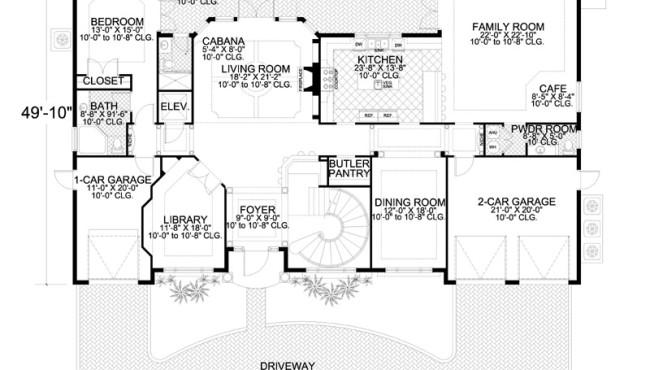 First Floor Home Plan