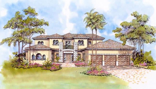 Three Car Garage Home Plans