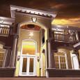 Beautiful Night House Rendering