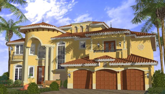 Beautiful House Plan Rendering