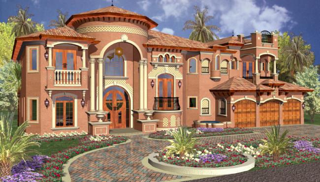 Executive House Plan Rendering