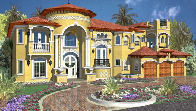 Large House Plan Rendering