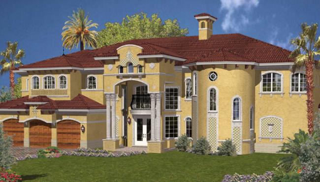 3 Car Luxury Home Plans